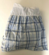 Laura Ashley Emilie Twin Bedskirt Blue Plaid Dust Ruffle Cottage Bed Skirt