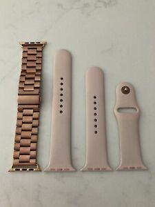 Genuine Apple Pink Sand Sport Band 42mm 44mm Rose Gold Stainless Steel Bracelet