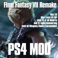 Final Fantasy VII Remake PS4 Mod,add Gotterdammerung, Level, weapons, items, gil