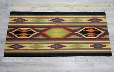 Vtg Traditional Handwoven Hutsul Area Rug Ukraine 0,7x1,5m Wool 1970s Great cond