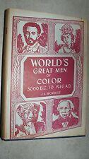 WORLD'S GREAT MEN OF COLOR 3000 B.C-1946 A.D. BY J.A. ROGERS Vol 2 HB/DJ (1947)