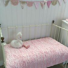 Pink Frill Shabby Chic Girls Nursery Cot Quilt Linens N Things Lulu Crib Bedding