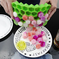 Silicone Ice Cube Tray 37Grid DIY Pudding Jelly Maker Mould With Lid for Kitchen
