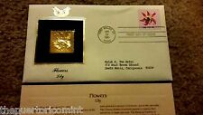 22K PURE GOLD Stamp 18c LILY 1981 FLOWER SERIES FDC Fort Valley Georgia GA