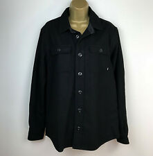 "Nike Jacket Shirt Style Black Wool Buttons Size Medium Chest 45"" NEW"