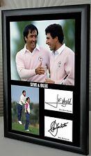 """Seve & Ollie Ryder Cup Golf Enmarcado Lona Homenaje impresión firmada """"Gran Regalo"""""""