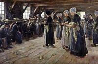 The Flax Barn at Laren by German  Max Liebermann. Life Art . 11x17 Print