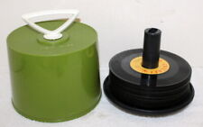 Vintage Disk-Go-Case 45 RPM Record Carrier ~ Green + 27 Free Records