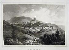 Ansicht von Annaberg / Sachsen / Ludwig Rohbock 1820 und L.Oeder / alte Grafik