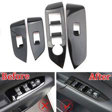 For Mazda CX-5 CX5 2017-18 Black Titanium Window Lift Switch Panel Cover Trim x4