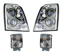 Left Right Genuine Headlights Headlamps Fog Lamp Kit No HID for Cadillac STS GM