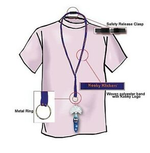 """4 Pack Kooky Klicker 19"""" Lanyard with KeyChain Breakaway Clip Purple Party Gift"""