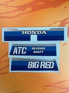 1984 Honda ATC200ES Big Red R Fender Decals Sticker 84  ATC 200ES 3pc set HB103