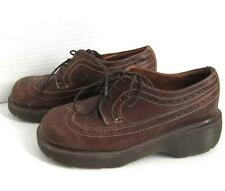 Vintage Dr Martens Oxfords Made in England US Women's Size 7 Brown Leather Shoes