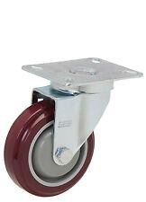 "Caster Swivel Plate: Tp 3-1/8x4-1/8. Polyurethane Wheel: 4"" x 1-1/4"". Annulus"