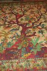 STUNNING BROWN TIE DYED TREE OF LIFE BEDSPREAD WALL HANGING DOUBLE QUEEN