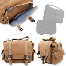 Tan-Brown Large Sized Canvas Carry Bag for SuperTooth D4 / D5 Portable Speakers