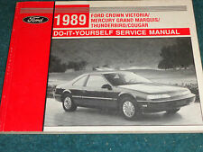 1989 FORD T-BIRD COWN VIC COUGAR MARQUIS DO-IT-YOURSELF SHOP MANUAL ORIGINAL!!!