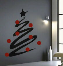 Christmas Tree Line Decals Christmas Window Stickers Christmas Decorations, h36