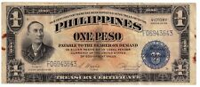 1944 (1 PESO ) VICTORY (SILVER CERTIFICATE) BLUE (PHILIPPINES- US) ** Wartime **