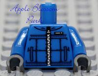 TORSO M062 Lego Male Dk Blue Jacket w// Blue Undershirt NEW EMT Star of Life