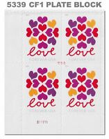 5339 (CF1) Postal Counterfeit Love Hearts Blossom Plate Block 2019 MNH - Buy Now