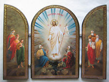 Resurrection of Christ - Triptych Icon - Russian Icon - Orthodox, Catholic
