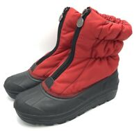 Sorel Fen 9 Womens Duck Boot Zip Up Red Puffer Liner Clean
