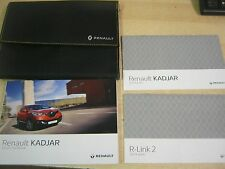 RENAULT KADJAR OWNERS MANUAL HANDBOOK + SERVICE SECTION  2015-2017 R LINK ,W5