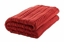 """Handmade Classic style 100% Merino Wool 50""""x65"""" Throw Blanket Made in Ireland"""