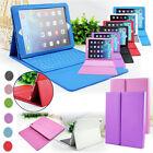 Funda de silicona y piel(PU) con teclado Bluetooth para iPad 5 Air/iPad 6 Air2