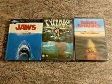 3 Blu-ray / DVD Shark Horror Lot! Jaws, Cyclone (1978), Sand Sharks NEW / SEALED