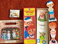 Lot Vintage Paper Doll Uncut Out Books Raggedy Ann & Andy & McCalls Mini Pattern