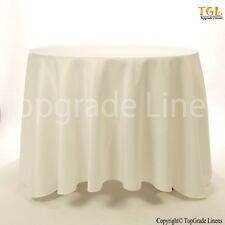 """1 Piece White Solid Round Table cloth 100% Egyptian cotton 90"""""""