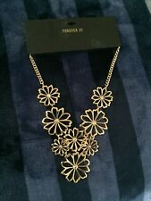 Forever 21 necklaces  | Gold | Flowers New!!