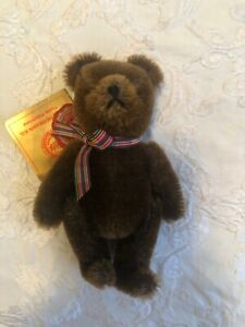 1990's  mohair Hermann Original Teddy miniature Teddy Bear West Germany 5in NWT