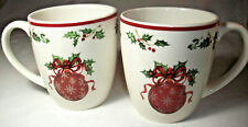 Christopher Radko Traditions HOLIDAY CELEBRATIONS: 2 Red Ornaments Mugs: EXC: NR