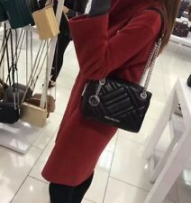 NWT MICHAEL KORS KATHY Small  Lamb Leather Satchel Shoulder Bag ( BLACk)