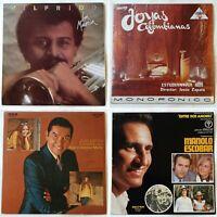 4x Latin LP joblot. Wilfrido Vargas, Merengue, Rumba, Flamenco, Manolo Escobar
