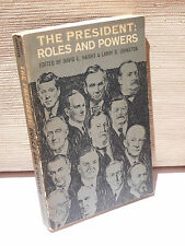 The President: Roles And Powers Haight - Johnson 1968 Rand McNally