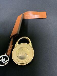 Michael Kors Gold Saffiano Hamilton MK Handbag Lock Key Charm
