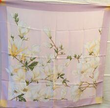 Valentino vintage panno sciarpa seta silk soie CARRE FOULARD RAR MAGNOLIA così bello