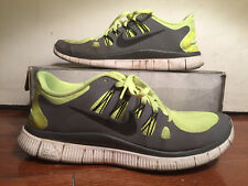Nike Free 5.0 Running Shoes Mens Size 11 Yellow Athletic Green White