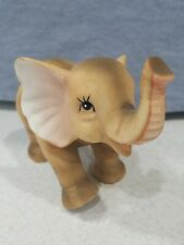 "Ceramic Elephant Happy Smiling Trunk Up 3"" Tall Figurine EUC"
