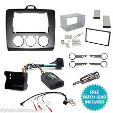 Doble DIN STEREO Fascia Facia Kit de Montaje de control de dirección para Ford Focus 2006 >
