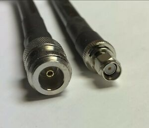 Helium N Female to RP-SMA Male RFC400 RF Pigtail Coaxial Cable 12 Feet USA Miner