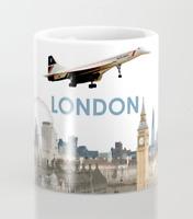 British Airways Concorde over London - Coffee Mug (11oz)