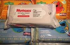 5 Pack Baby Wipes Bundle   Huggies & Sesame Street  280 Wipes