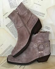 Jeffrey Campbell for Free People Boot taupe Distress Suede Harness Ankle 8 NEW
