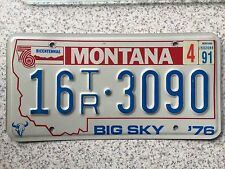 FREE UK POSTAGE 1976 Montana Sky Bicentennial USA License Number Plate 16 3090